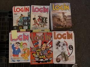 ログイン創刊号~87年までまとめて入荷しました