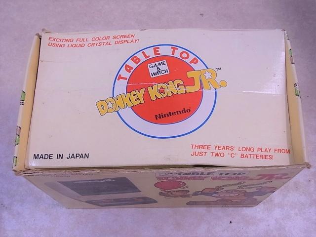 ゲーム&ウォッチ テーブルトップ ドンキーコングジュニア 紙箱 上面