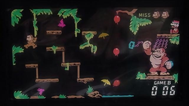 ゲーム&ウォッチ テーブルトップ ドンキーコングジュニア ゲーム画面 2