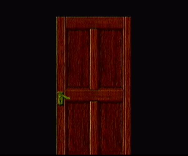 バイオハザード 扉を開けるシーン