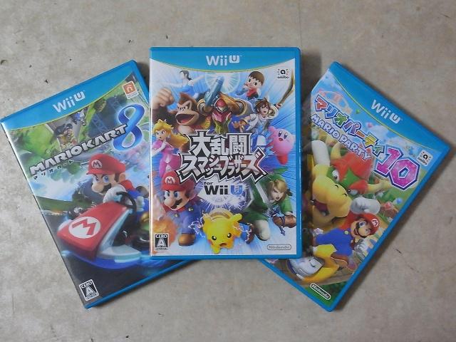 WiiU マリオカート8、大乱闘スマッシュブラザーズforWiiU、マリオパーティ10