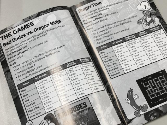 北米版Wii データイーストクラシックス 取扱説明書