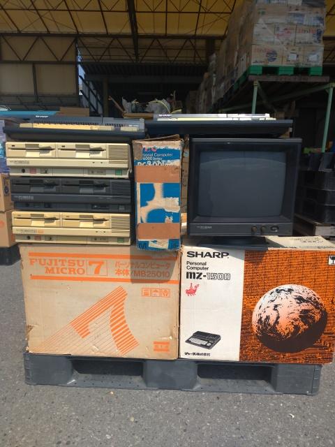 【出張買取】PC-8801FH通常・ブラックモデル、MZ-1500などレトロPC多数を栃木県足利市よりお譲りいただきました