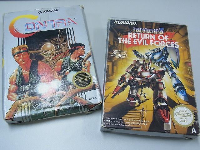 NES北米版と欧州版の魂斗羅