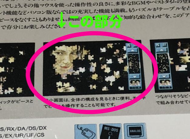 アートジグソー Vol.2 プリティーガール 箱裏面(PC98版)