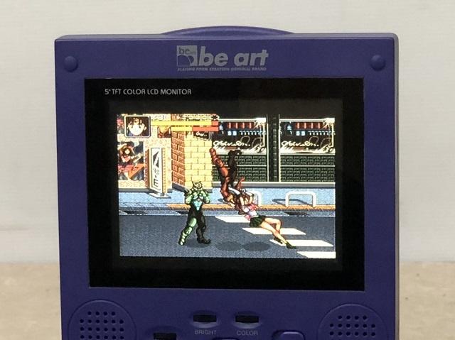 5インチ TFTモニターにスーパーファミコンの映像が出力される写真3枚目 (セーラージュピター)