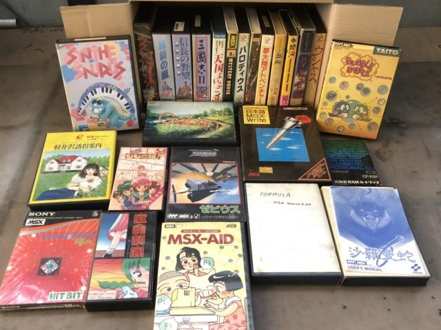 MSX2 バブルボブル、ゼビウスなど各種MSXソフト大量
