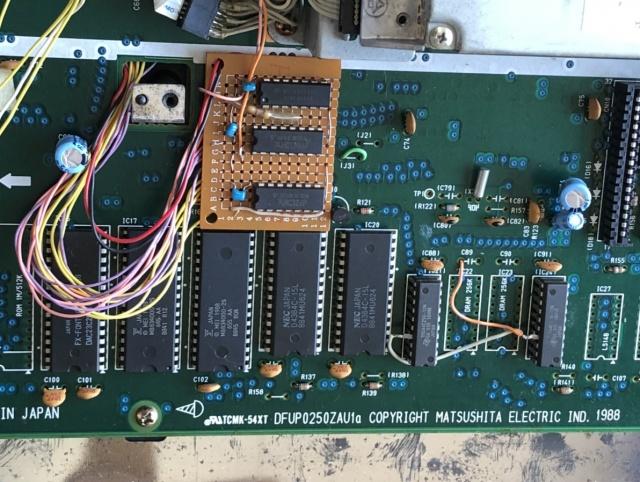 パナソニック FS-A1WX (改造品) 改造部分写真2枚目
