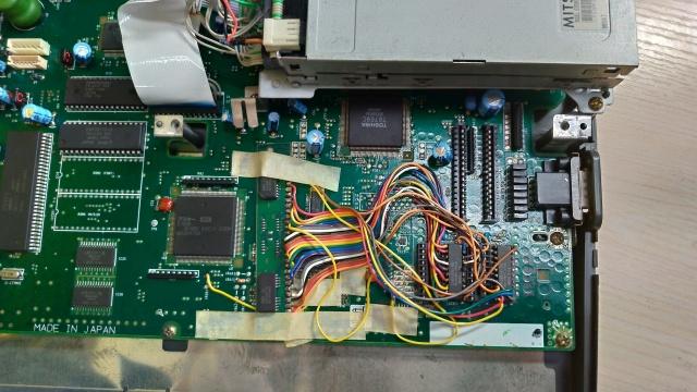 MSX FS-A1ST 基板部分の写真